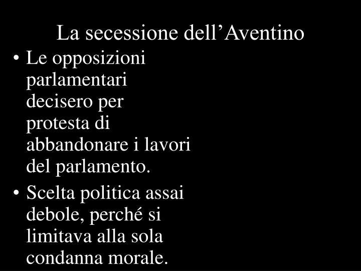 La secessione dell'Aventino