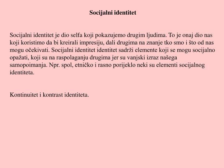 Socijalni identitet