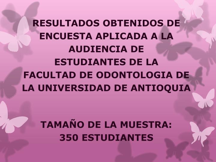RESULTADOS OBTENIDOS DE