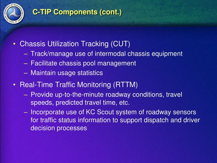 C-TIP Components (cont.)