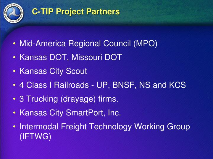 C-TIP Project Partners