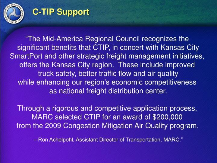 C-TIP Support