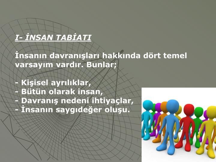 I- İNSAN TABİATI