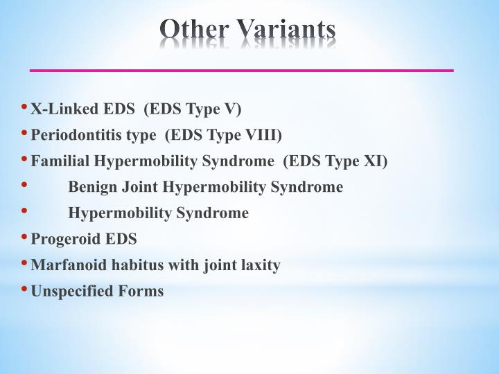 X-Linked EDS  (EDS Type V)