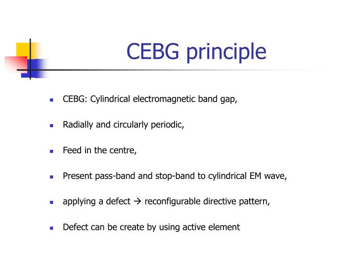 CEBG principle