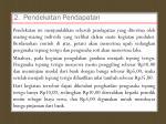 2 pendekatan pendapatan