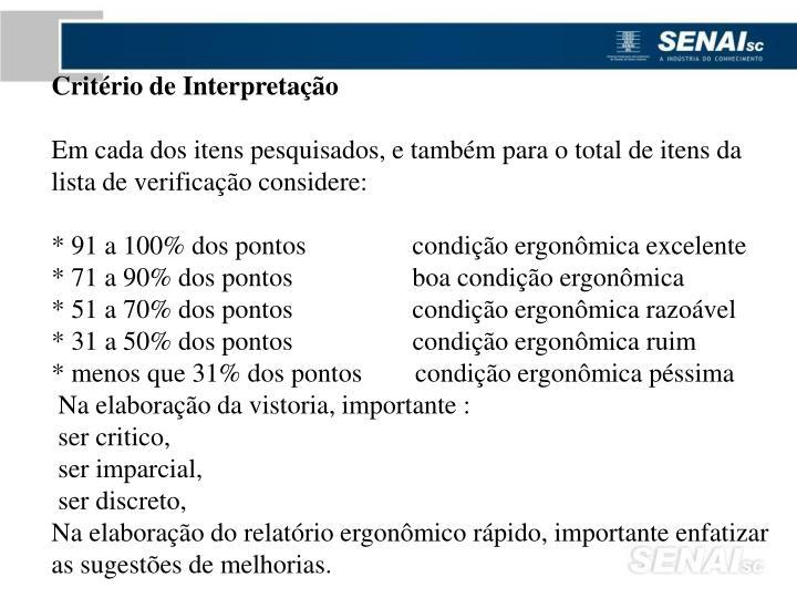 Critério de Interpretação