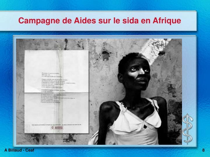 Campagne de Aides sur le sida en Afrique