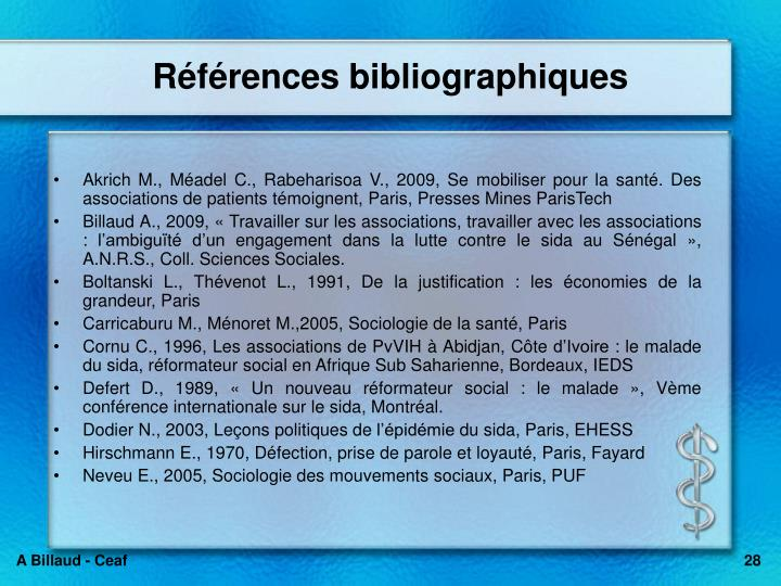Rfrences bibliographiques