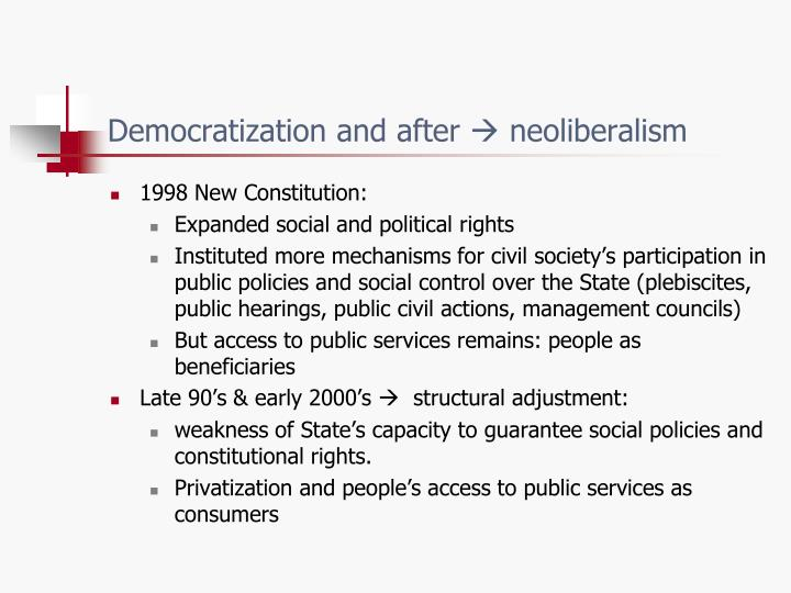 Democratization and after