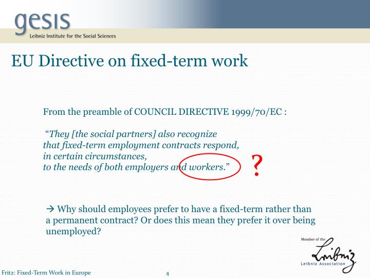 EU Directive on fixed-term work
