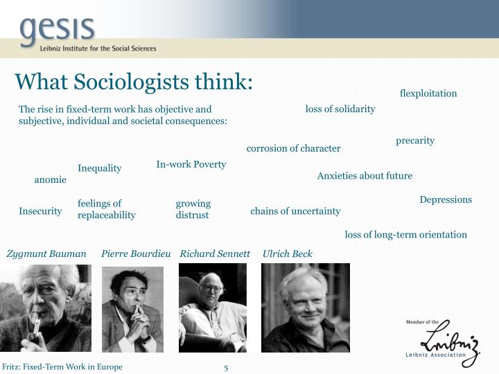 What Sociologists think: