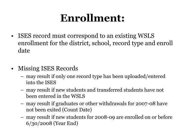 Enrollment: