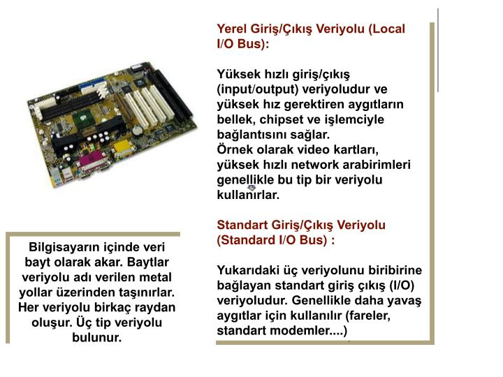 Yerel Giri/k Veriyolu (Local I/O Bus):