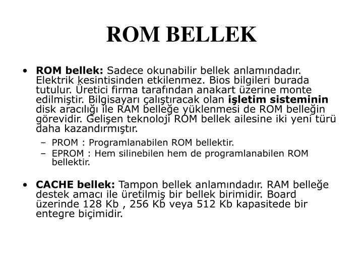 ROM bellek: