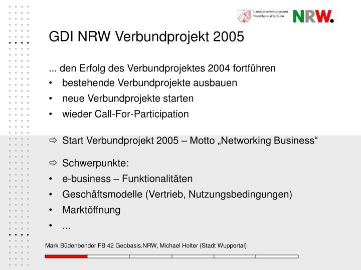 GDI NRW Verbundprojekt 2005