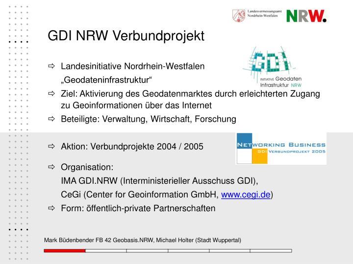 GDI NRW Verbundprojekt