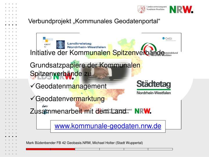 """Verbundprojekt """"Kommunales Geodatenportal"""""""