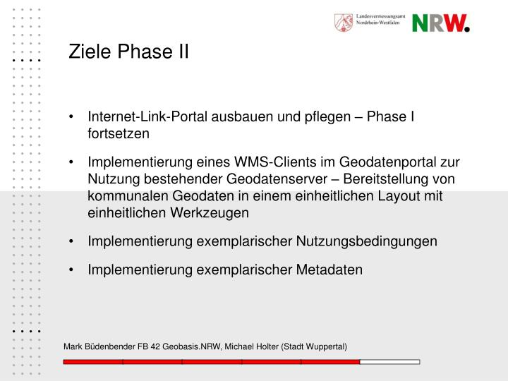 Ziele Phase II