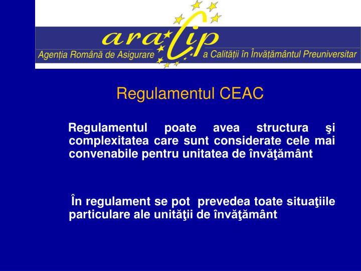 Regulamentul CEAC