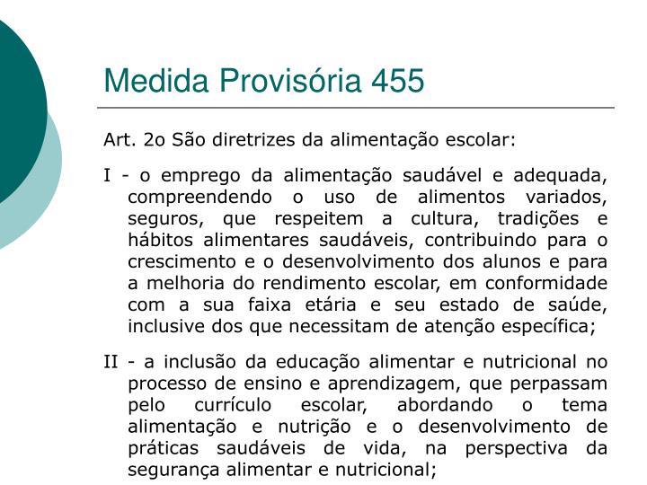Medida Provisória 455