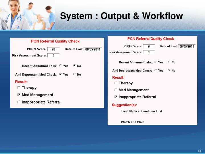 System : Output & Workflow