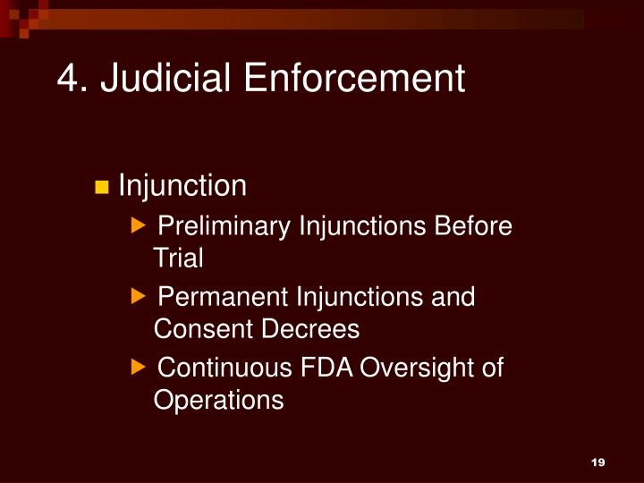 4. Judicial Enforcement