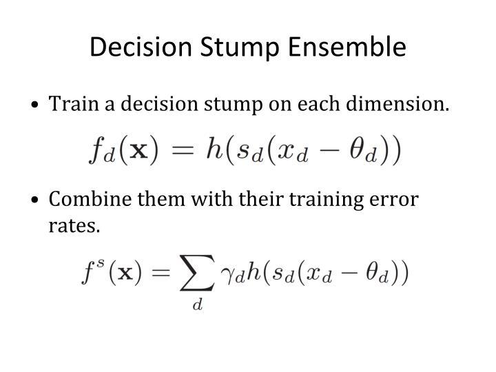 Decision Stump Ensemble
