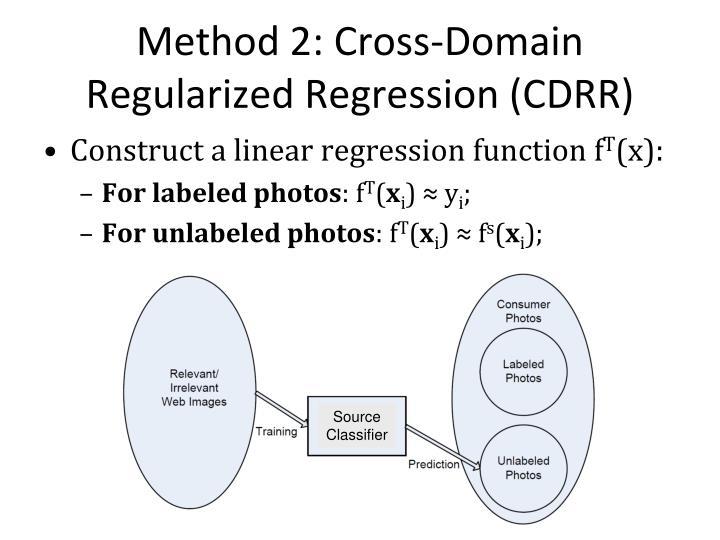 Method 2: Cross-Domain Regularized Regression (CDRR)