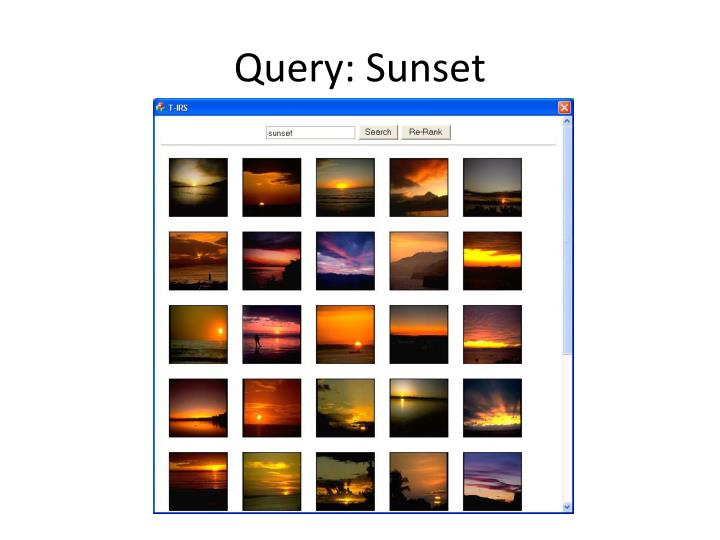Query: Sunset