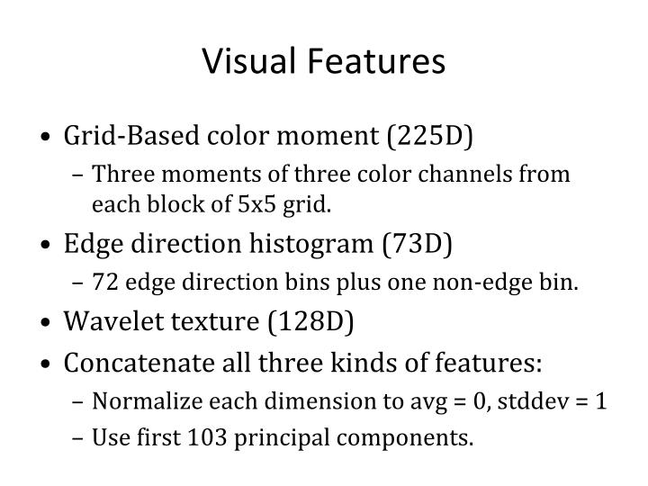 Visual Features