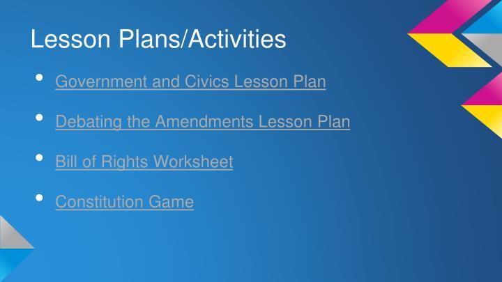 Lesson Plans/Activities