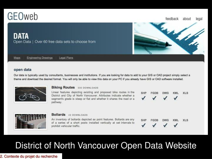 District of North Vancouver Open Data Website