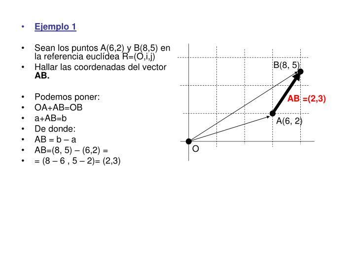 B(8, 5)