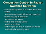 congestion control in packet switched networks
