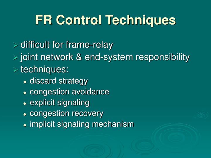 FR Control Techniques