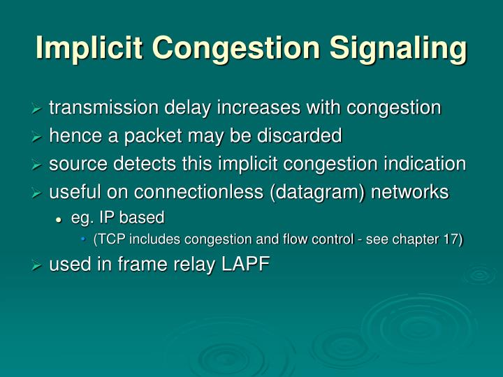 Implicit Congestion Signaling