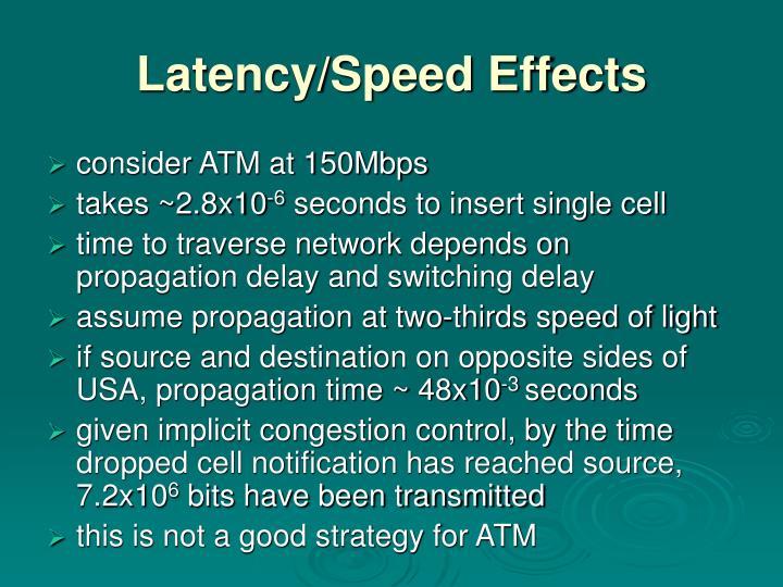 Latency/Speed Effects