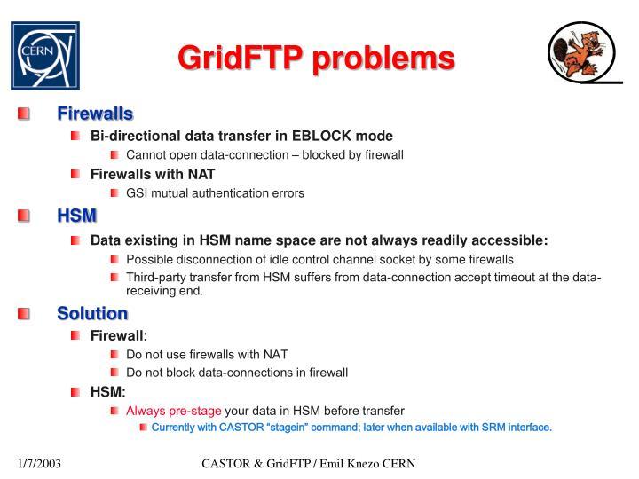 GridFTP problems
