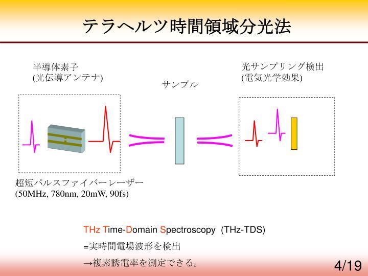 テラヘルツ時間領域分光法