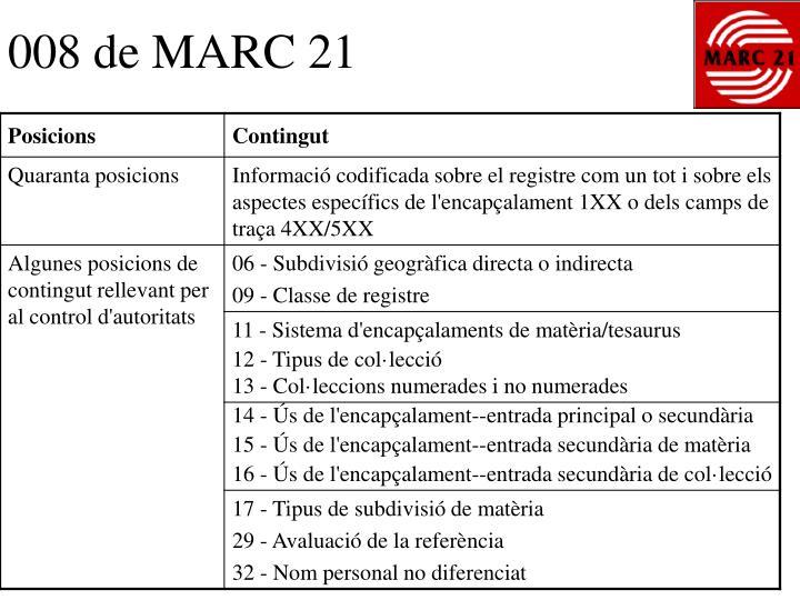 008 de MARC 21