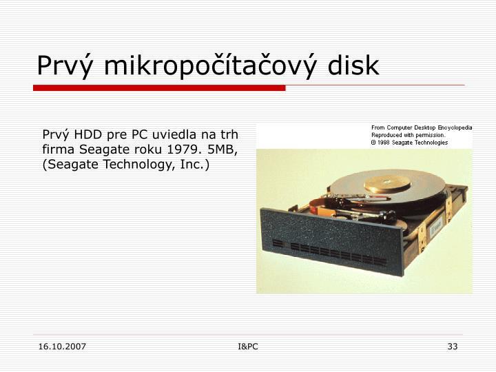 Prvý mikropočítačový disk
