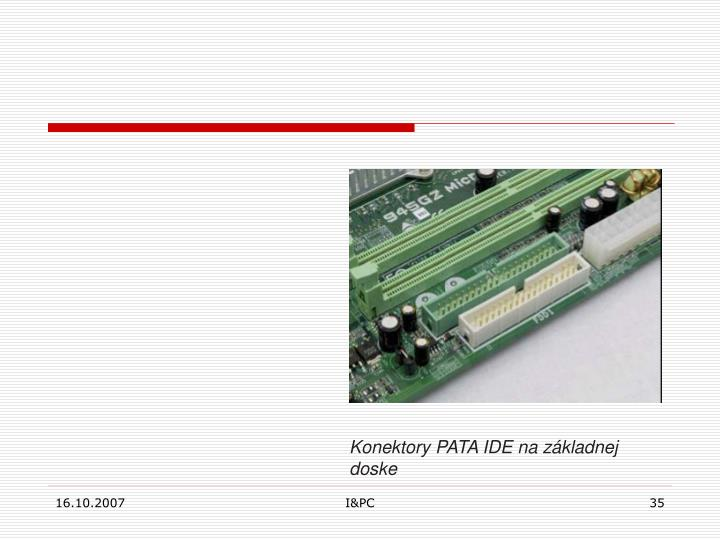 Konektory PATA IDE na základnej doske