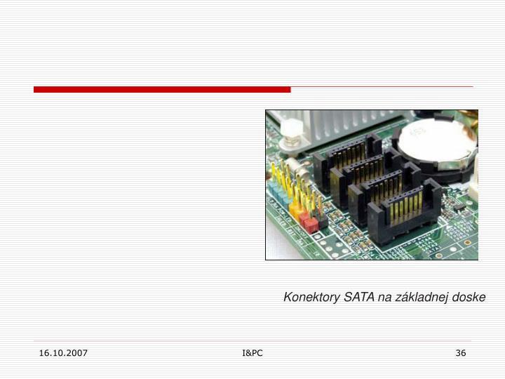 Konektory SATA na základnej doske
