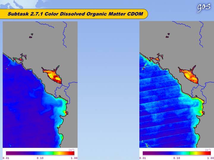 Subtask 2.7.1 Color Dissolved Organic Matter CDOM