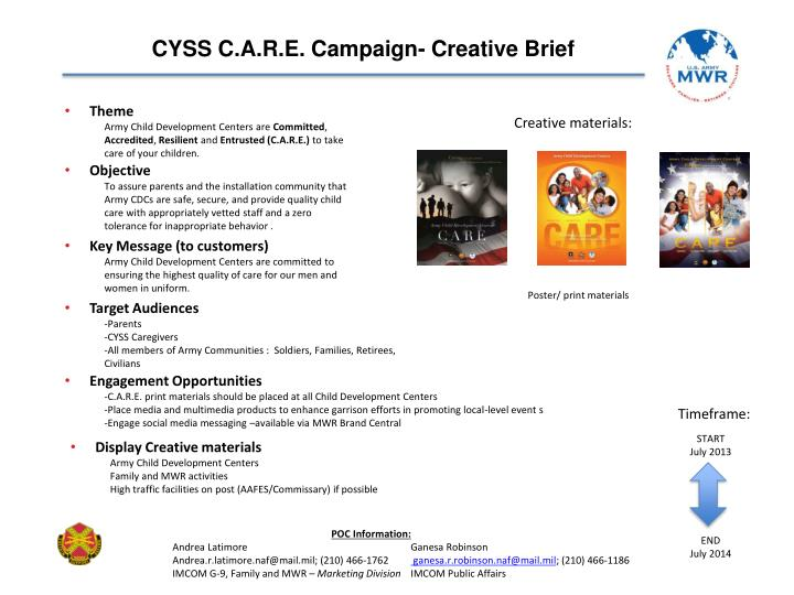 CYSS C.A.R.E. Campaign- Creative Brief