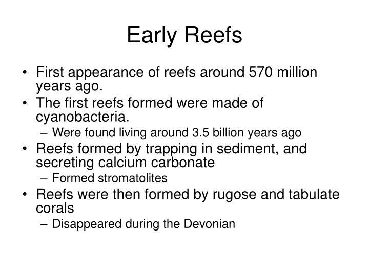 Early Reefs