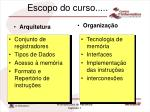 escopo do curso