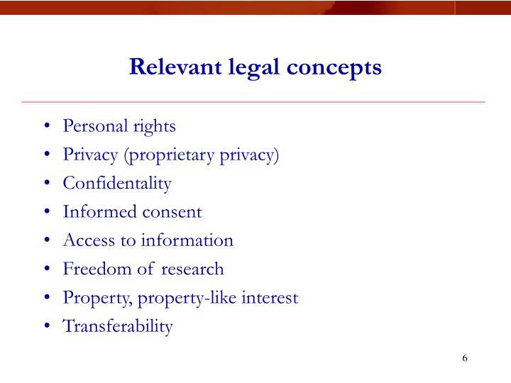 Relevant legal concepts