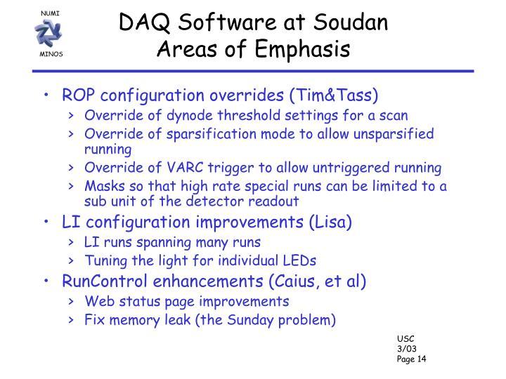 DAQ Software at Soudan